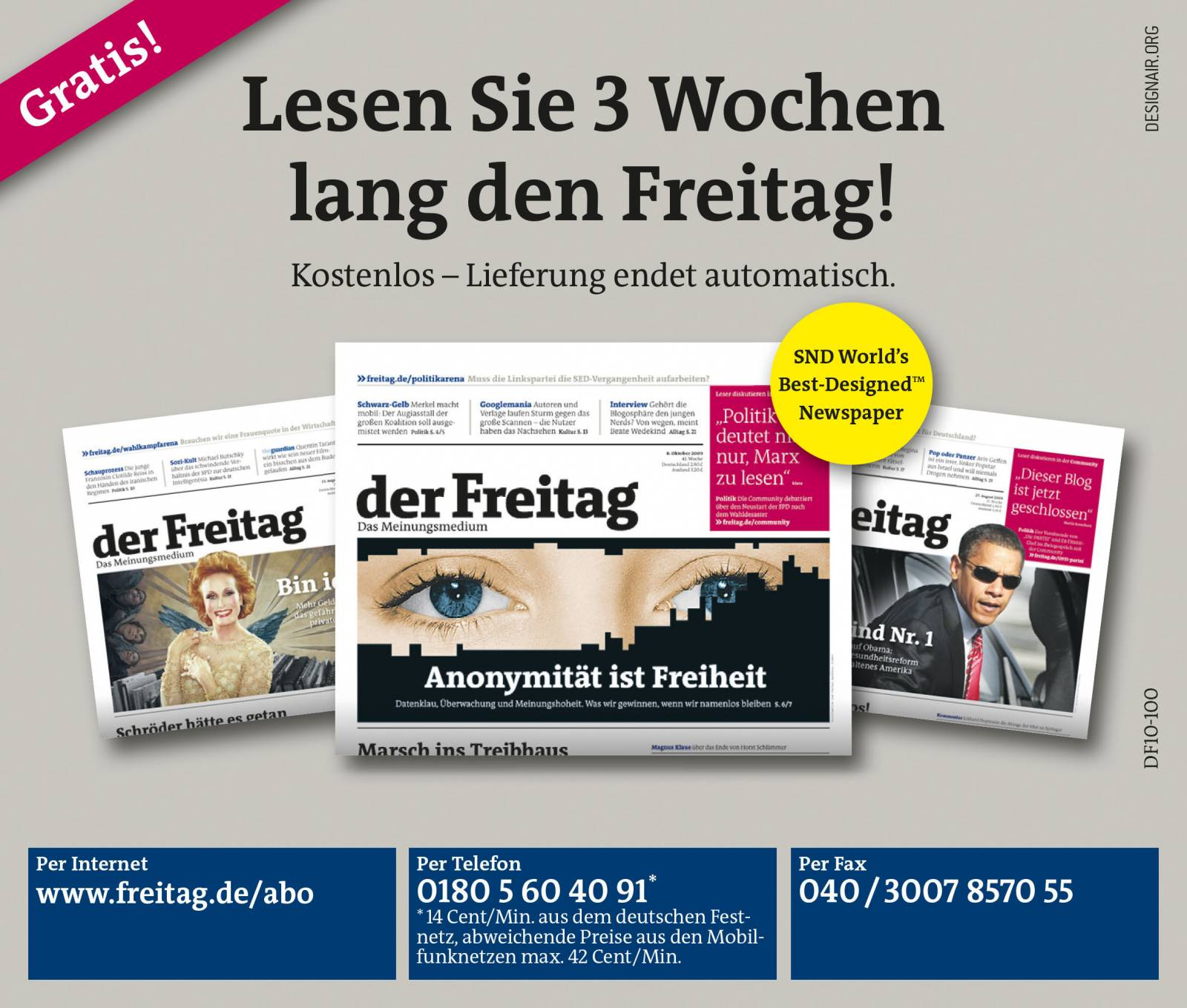 ETPTT, Der Freitag, layout, typesetting, final artwork, dtp